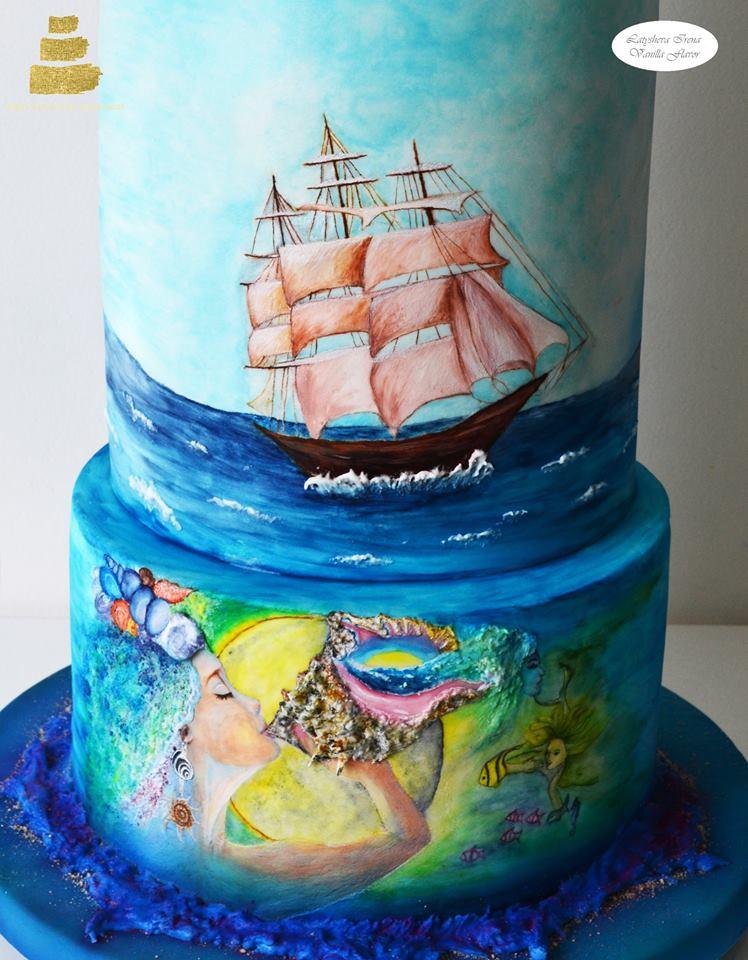 Свадебный торт для русско-турецкой выставки Modern Wedding CAKE Collaboration