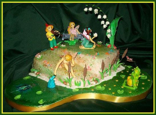 """Торт """"Цветочная поляна фей"""""""