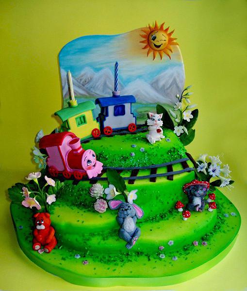 """Торт """"Паровозик для зверят"""", 3 кг"""