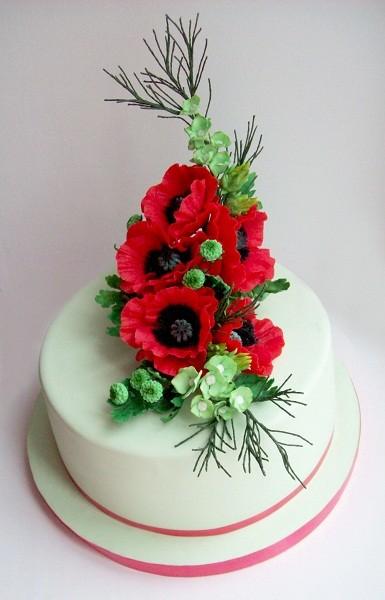 """Торт """"Красные маки"""", 3,3 кг"""