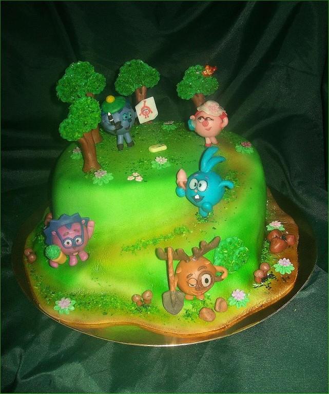 """Торт """"Смешарики"""" (История одного Дня рождения)"""