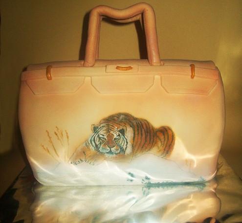 """Торт-сумка """"Тигр на снегу"""", 2,8 кг"""