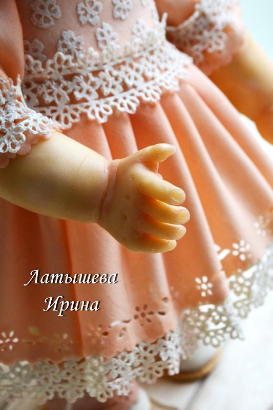 3Д кукла из воздушно-рисовой массы