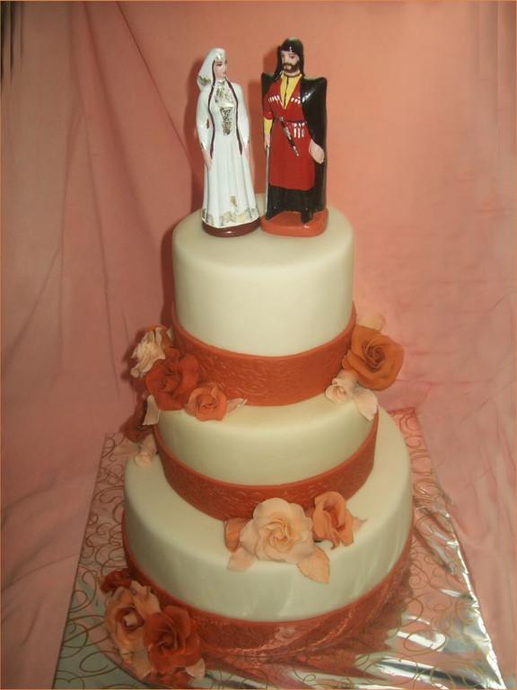 """Свадебный торт """"Национальная свадьба в терракотовом стиле"""",10 кг"""