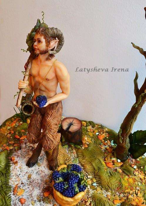 Анатомическая лепка Фавн Sugar art miniature sculpture