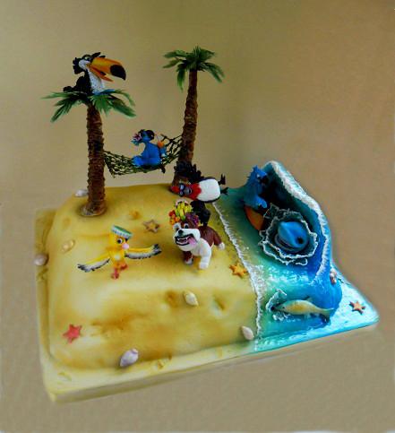 """Торт """"Рио-пляж"""", 3,5 кг"""