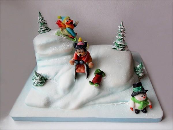 """Торт """"Зимние каникулы Микки Мауса"""", 3,5 кг"""