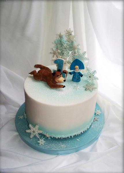 """Торт """"Маша, Миша и снежинки"""", 3,5 кг"""