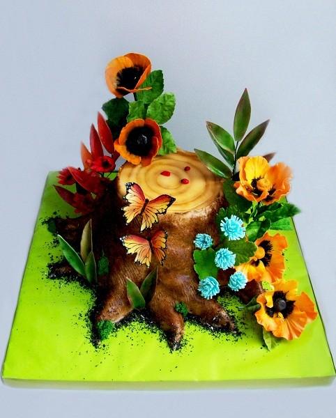 """Торт на 5-ую годовщины  """"Деревянная свадьба, 3 кг"""
