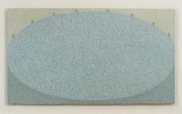 The Blue Area   74.6×130.5cm  oil on wood