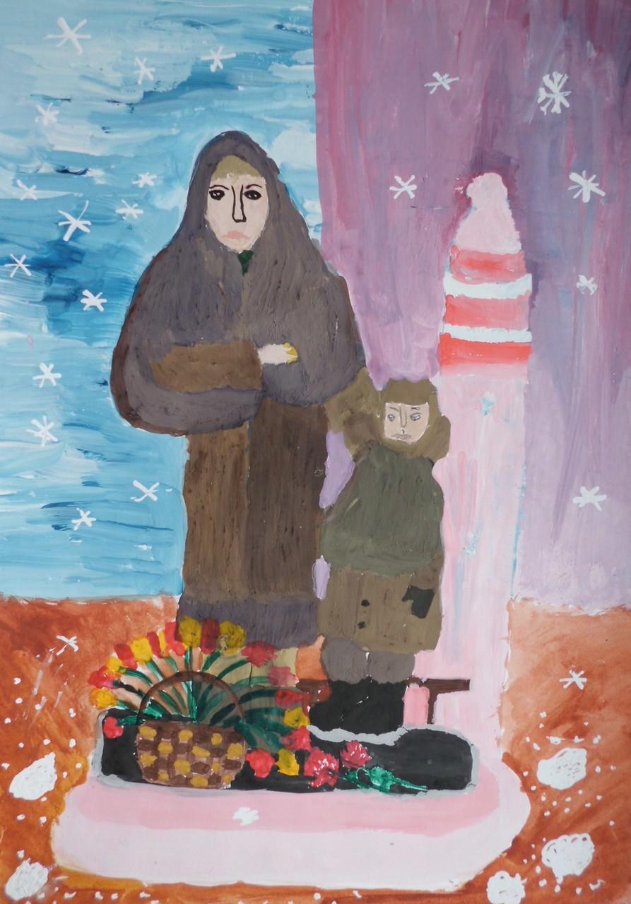 Зверева Саша, 12 лет, «Памятник детям войны в Красноярске»
