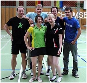 hinten v.l.n.r.: Thomas, Basty, Andi, Robin vorne v.l.n.r.: Tamy, Lisa