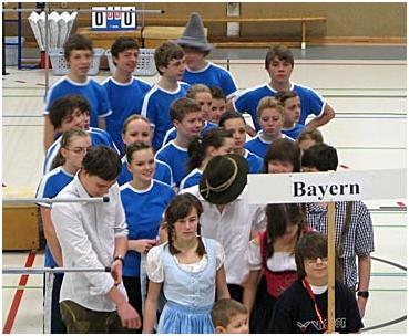 Einmarsch der Bayern-Spieler