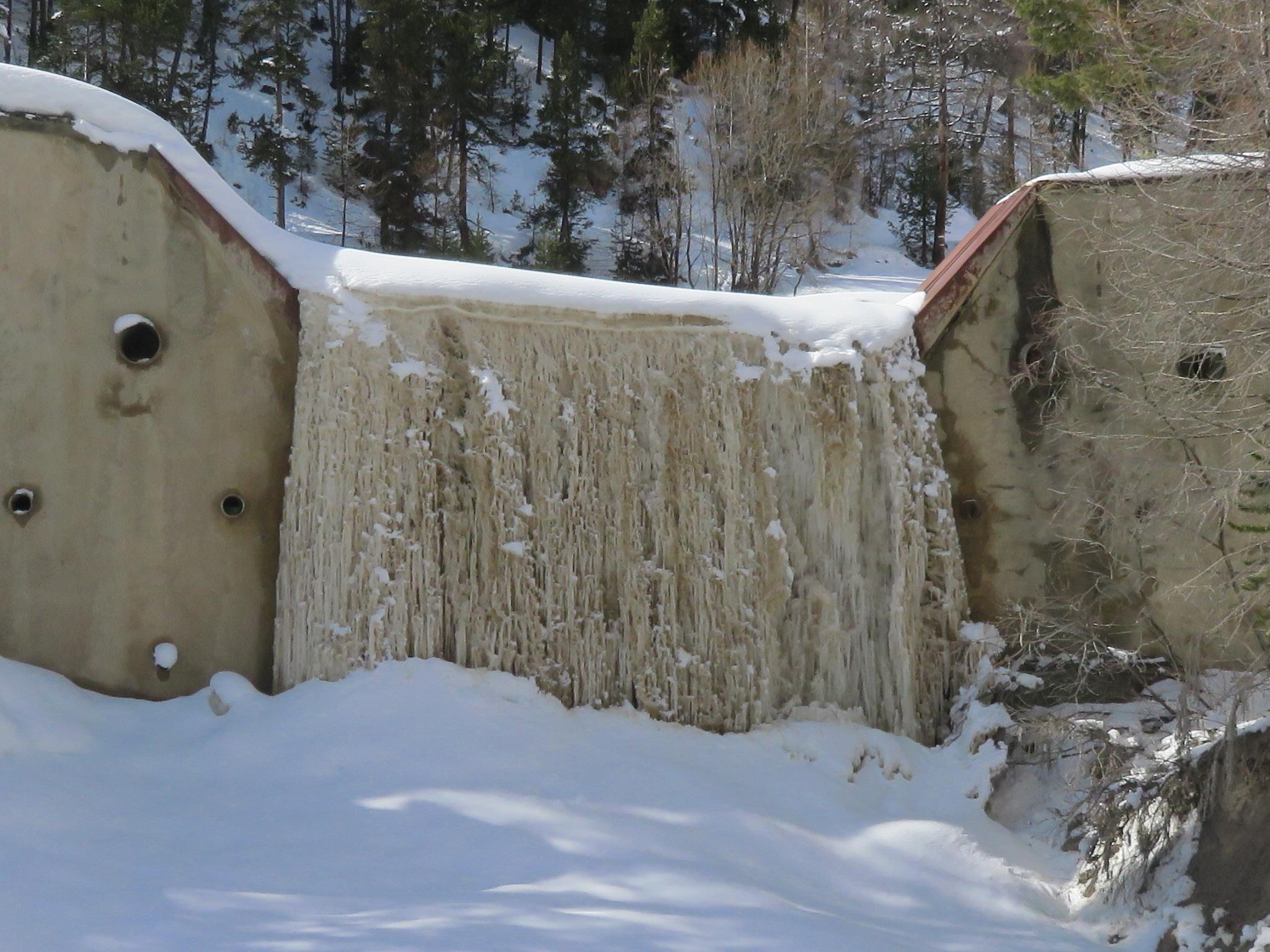 mars 2017 la cascade de glace du Roubion