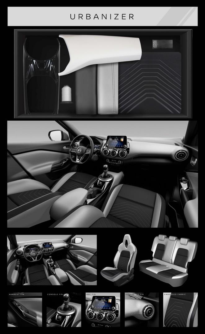 Nissan JUKE N-DESIGN blanc Tissu/TEP France 2019