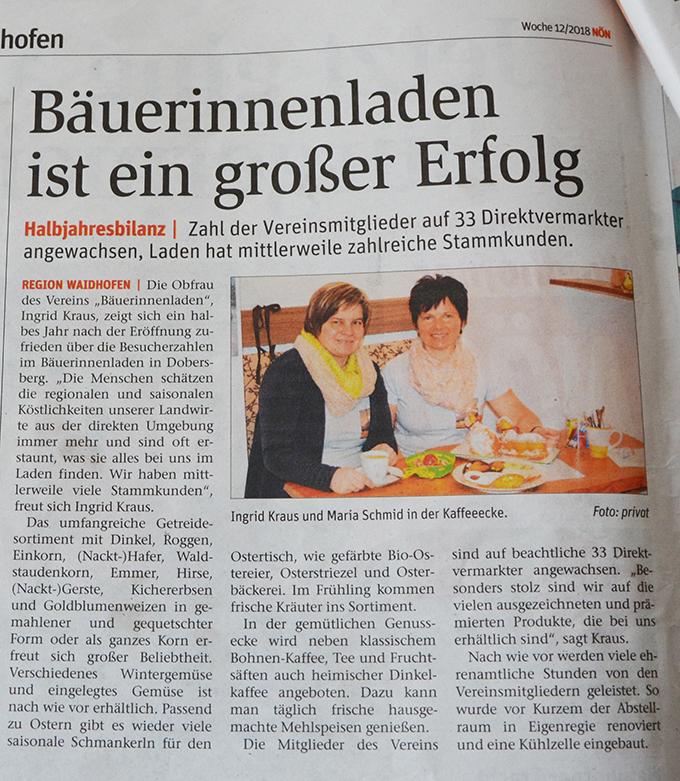 Bäuerinnenladen Dobersberg Bauernladen Schmankerl regionale Köstlichkeiten Direktvermarkter