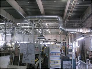 自動車部品工場の局所排気工事
