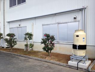 生産工場 冷却塔設備工事
