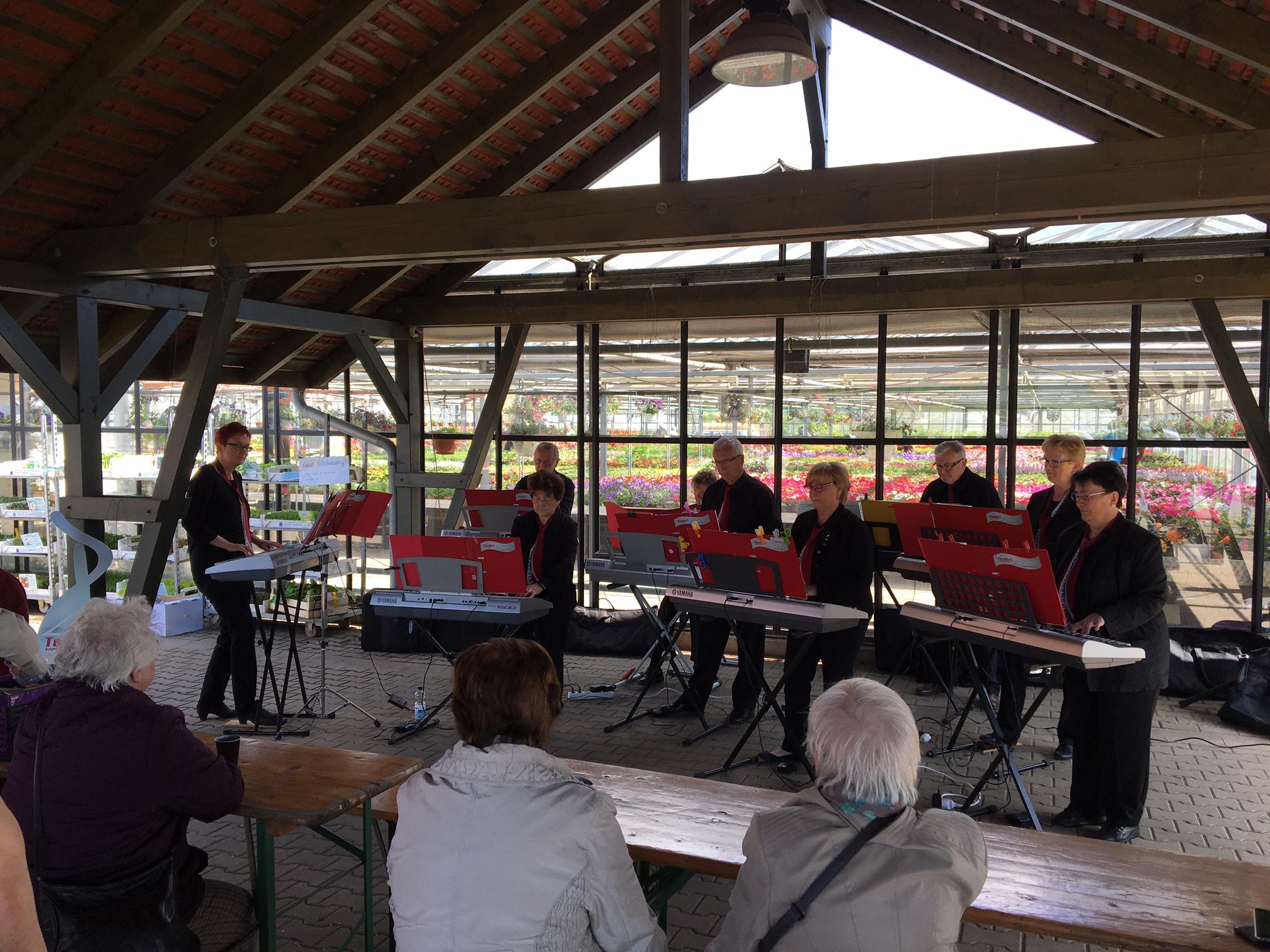 2017 -  Traditionell umrahmen wir den Tag der offenen Gärtnerei in der Sörnewitzer Gärtnerei Damme
