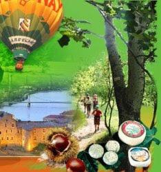 vol en montgolfière, balade en foret,dégustation de produit régionnaux ,fromage,caillette,confiture,miel.....
