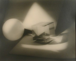 Jaromir Funke:  Composition (cube and sphere), 1923 / 1995 Part of portfolio