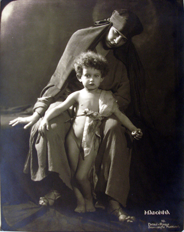 Frantisek Drtikol: Madonna, Bromografie, 22,5 x 29 cm- 1921, Vintage