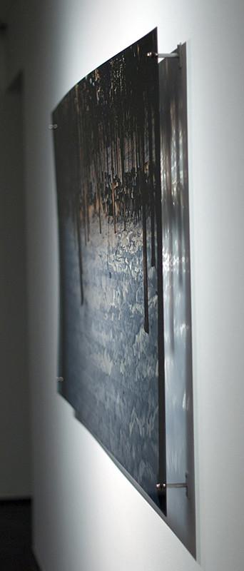 N8, 2011. 187 snows series. Ink print on 2 mm flexible metacrylate. 100 x 150 cm