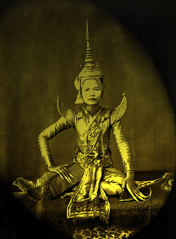 Traditional actor in resting pose