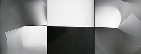 GOTTFRIED JÄGER. Fotopapierarbeit 1986-VI-1-3, 1986. Silbergelatine-Barytpapier. Unikat. Je 59 x 49,5 cm (Triptychon)