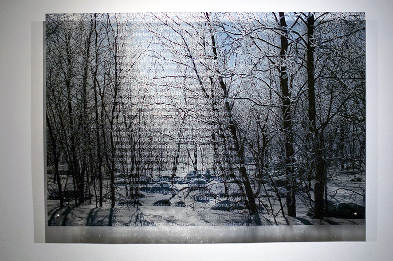 N3, 2011. 187 snows series. Ink print on 2 mm flexible metacrylate. 100 x 150 cm