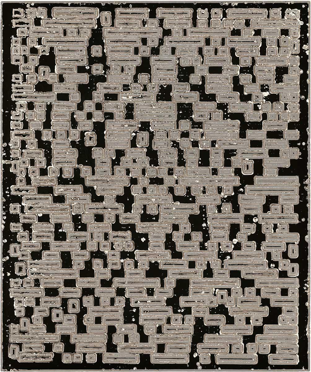 "PIERRE CORDIER & GUNDI FALK. Chimigramme 17/11/12 ""Musigramme contemporain"", 2012. Chemigramm. Unikat. 60 x 50 cm"
