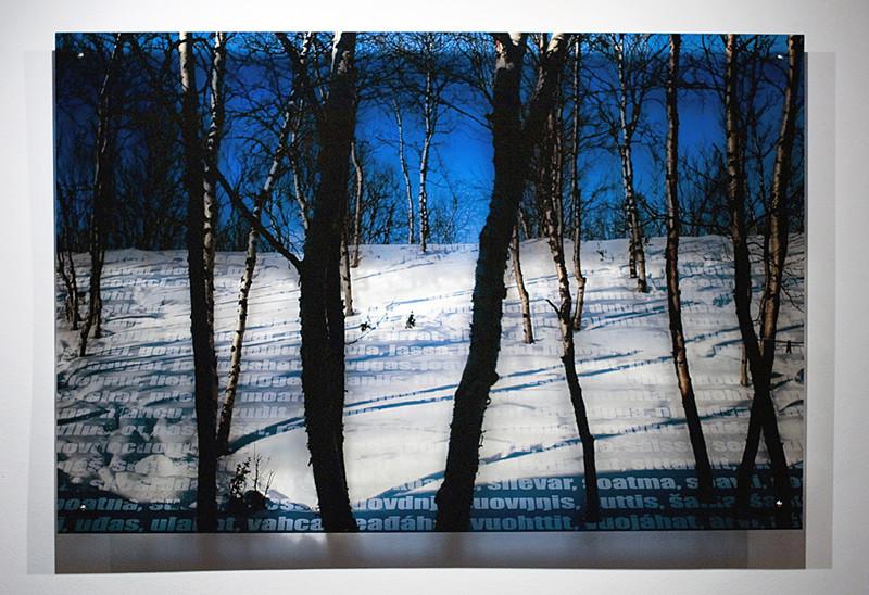 N1, 2011. 187 snows series. Ink print on 2 mm flexible metacrylate. 100 x 150 cm