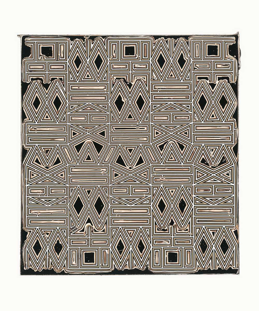 "PIERRE CORDIER & GUNDI FALK. Chimigramme 20/1/14 ""I have a Dream"", 2013. Chemigramm. Unikat. 60 x 50 cm"