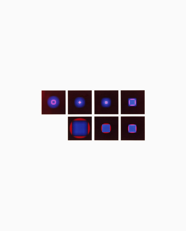 Mechano optische Untersuchung Serie 13.1972. 50 x 40 cm