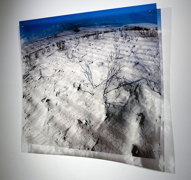 N6, 2011. 187 snows series. Ink print on 2 mm flexible metacrylate. 100 x 150 cm