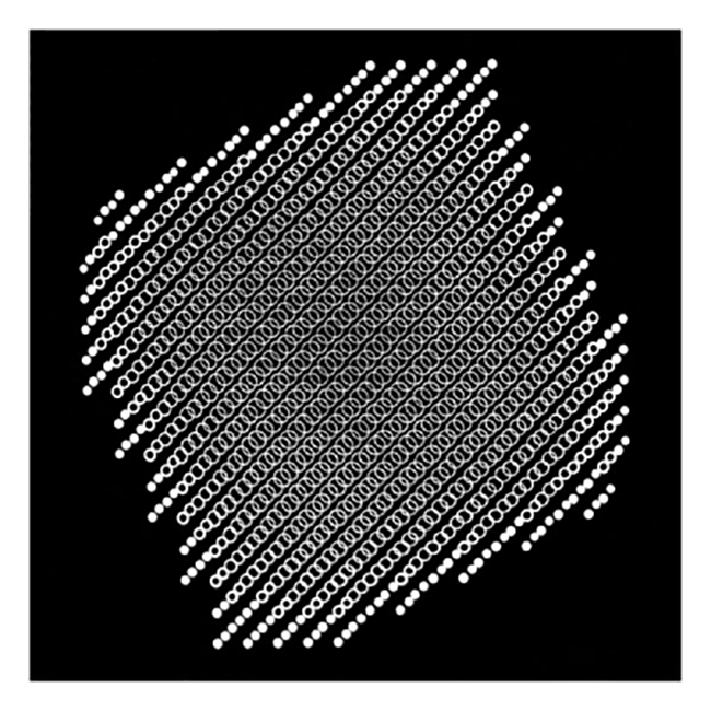 Lochblendenstruktur 3.8.14 D2.3, 1967