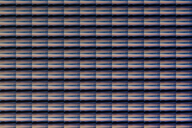 P2, 2011. 144 landscapes series. Ink print on 2 mm flexible metacrylate. 133 x 200 cm