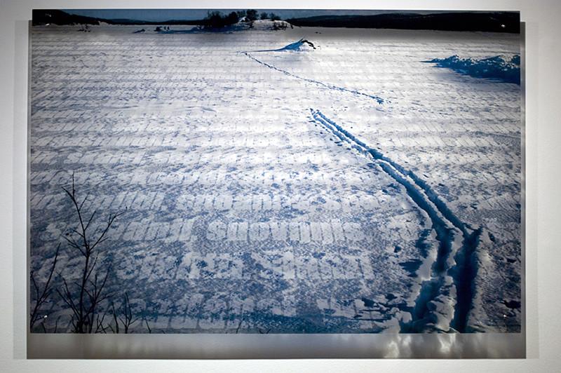 N7, 2011. 187 snows series. Ink print on 2 mm flexible metacrylate. 100 x 150 cm