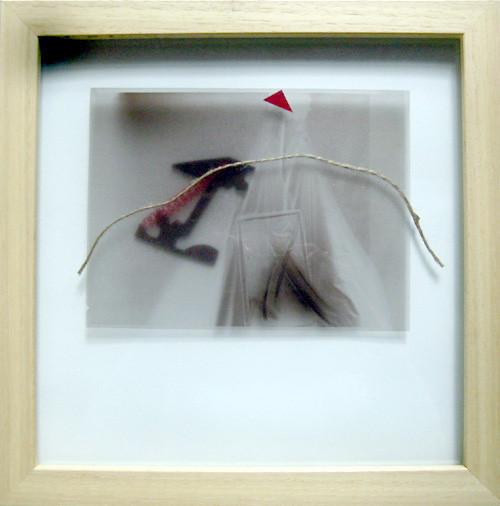 ADHEZE, negativ 1983, assemblage 1991, 35.5 x 35.5 cm