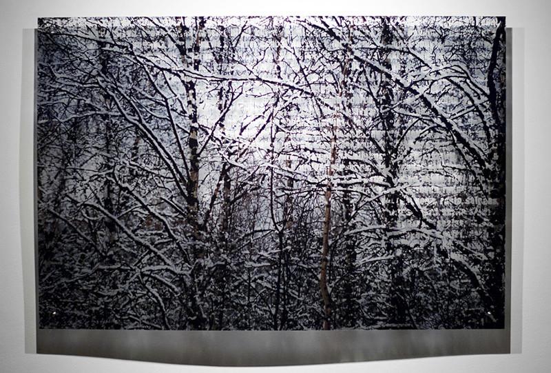 N4, 2011. 187 snows series. Ink print on 2 mm flexible metacrylate. 100 x 150 cm