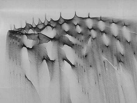 HEIN GRAVENHORST. Reflexbild, 1965. Silbergelatine-Barytpapier. Unikat. 28,5 x 36,2 cm