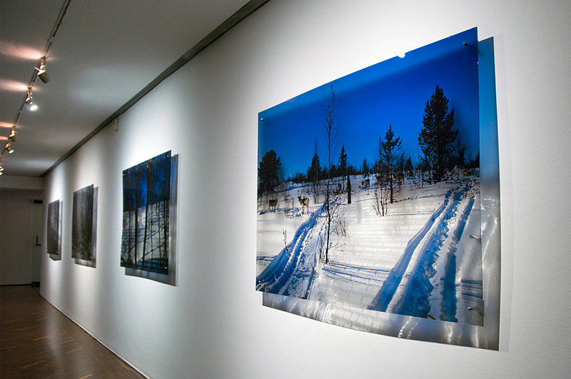 187 snows series, 2011. Ink print on 2 mm flexible metacrylate. 100 x 150 cm