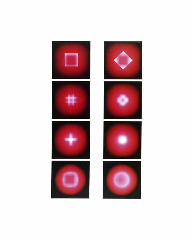 Mechano optische Untersuchung Serie 21.1975. 50 x 40 cm