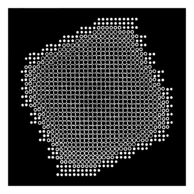 Lochblendenstruktur 3.8.14 D2.2, 1967