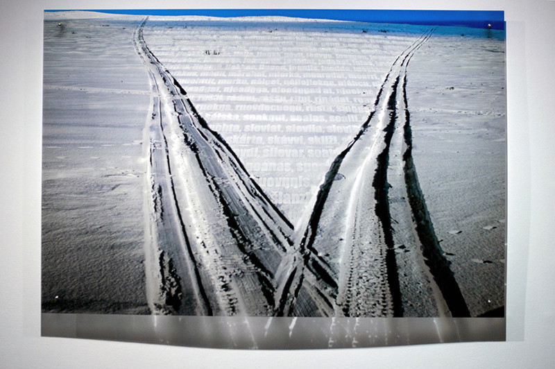 N2, 2011. 187 snows series. Ink print on 2 mm flexible metacrylate. 100 x 150 cm