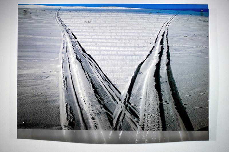N2, 2011. 187 snows series. Ink print on 2 mm flexible metacrylate. 100 x 150 cm