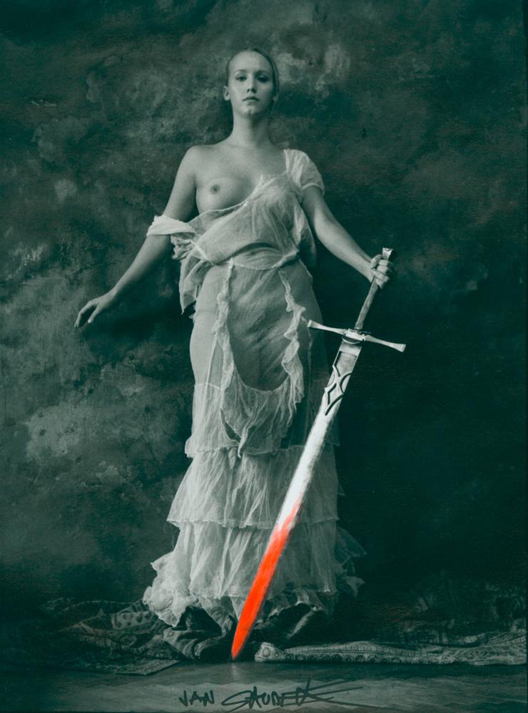 Jan Saudek,  1935, Silvergelatine Print, 19,6 x 14,8 cm, signed, Vintage 1998