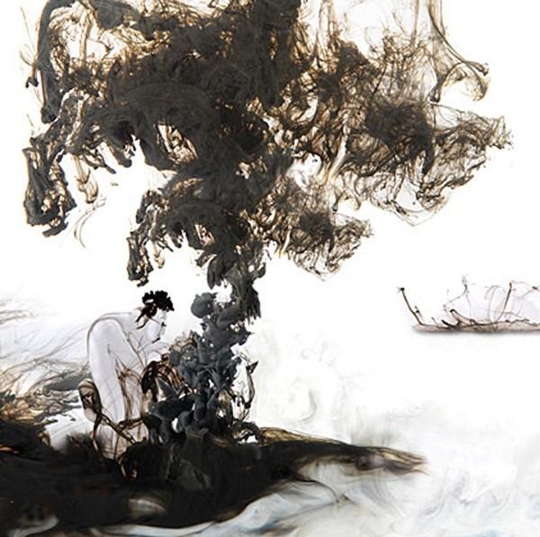 photographic ink & wash   Lotus