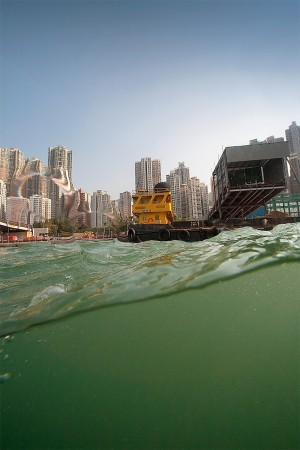 Hong Kong Island. From a Boat in Stanley Bay. 2010