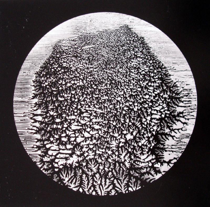 Ladislav Postuba, O.T. (abstract Landscape), Silver Gelatine Print, signed, 1982 Vintage